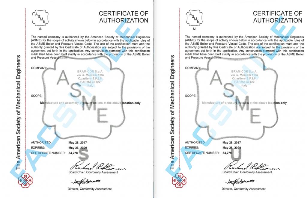 Bram-Cor ASME S-U